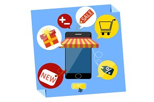 Internet shopping concept smartphone