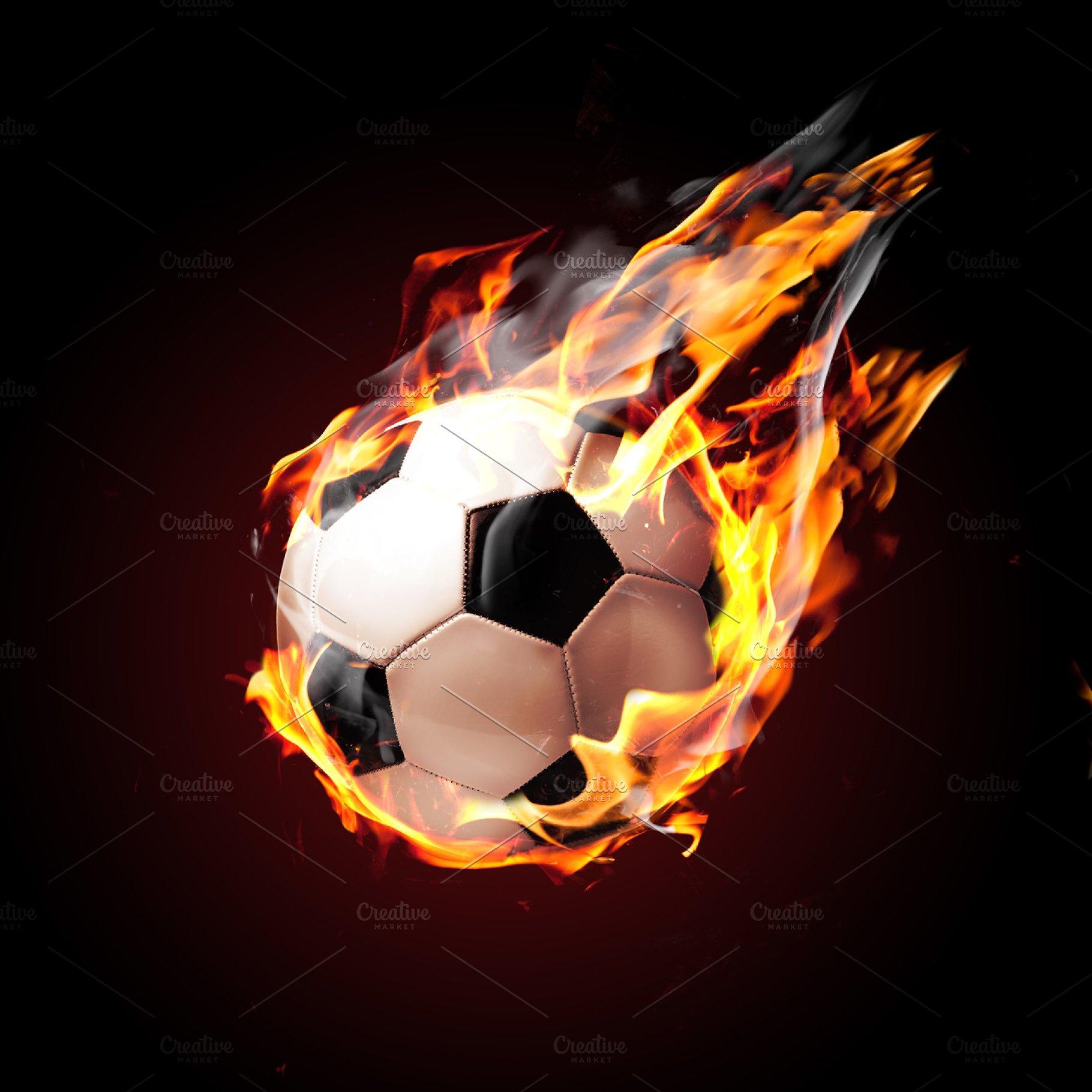 Soccer ball on fire | High-Quality Stock Photos ~ Creative Market