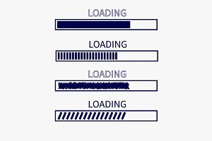 Loading progress bar icon set