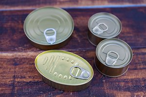 Cans of preserves