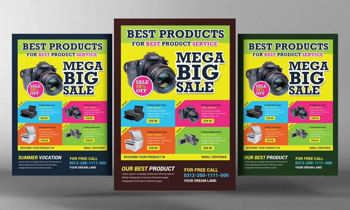 product promotion flyer template flyer templates creative market. Black Bedroom Furniture Sets. Home Design Ideas
