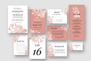 Rose Blush Roses Wedding Suite