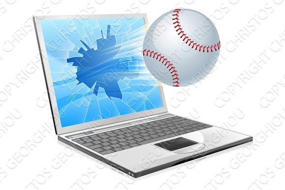 Baseball Ball Laptop