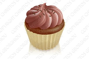 Chocolate fairy cake cupcake