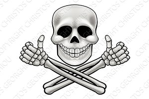 Skull and Crossbones Illustration