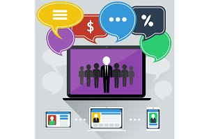 Concept of online meeting