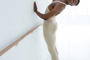Ballerino preforming stretching exercise