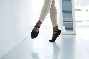 Ballerino practicing ballet dance
