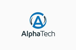 Alpha Tech – Letter A Logo