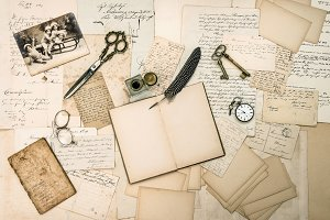 Antique Letters and Christmas Cards