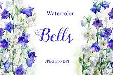 SALE! Watercolor bells flowers