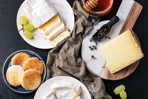 Assortment of french cheese
