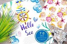 Hello SEA - watercolor collection