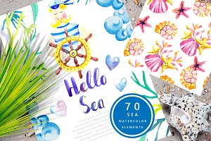 Hello SEA - watercolor collection