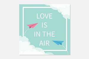 Love is in the air. Paper planes.
