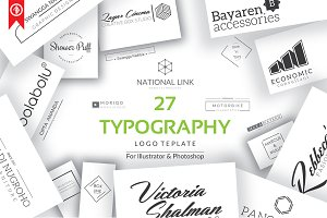 Typography premade logo Template