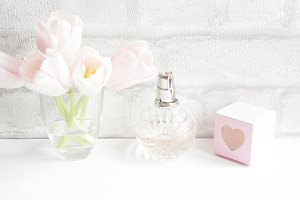 Soft Pink Flowers and Accessories