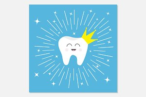 Healthy tooth crown icon