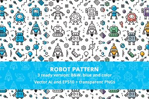 Robot Funny Pattern 3 ready version