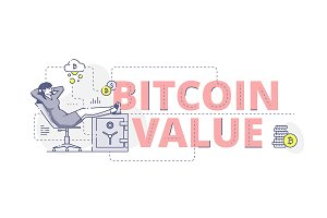 Bitcoin value web banner
