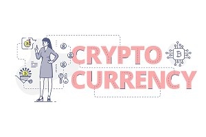 Crypto currency web banner