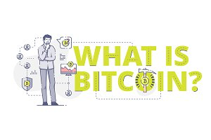 What is bitcoin web banner