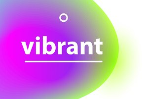 Vibrant gradient blobs