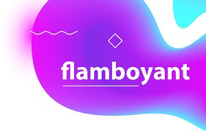 Flamboyant gradient blobs