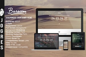 Barsoom - Responsive Countdow Theme