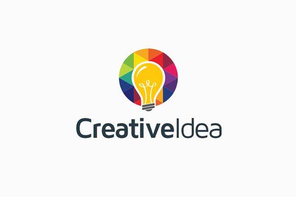 Creative Idea Bulb Logo Logo Templates Creative Market