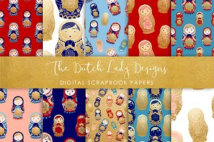 Russian Matryoshka Doll Paper