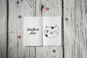 Blank notebook, copybook photo