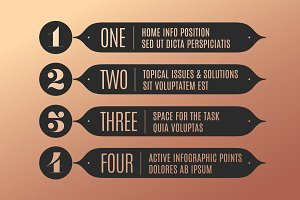 Set of infographic design, vintage arrows, banners, numbers and text
