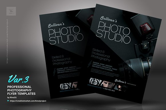 Professional Photography Flyer Flyer Templates Creative Market - Photography brochure templates