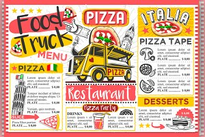 Food Truck Pizza Menu Street Food