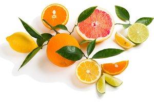 Colorful citrus fruits.
