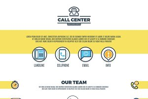 Call center support service