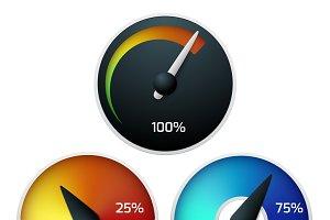 Download speedometers vector set