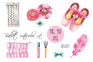 Ballet watercolor set
