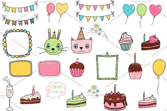 Cute Birthday Design Element Clipart