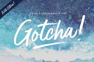 NEW!Gotcha Marker Font + Extras