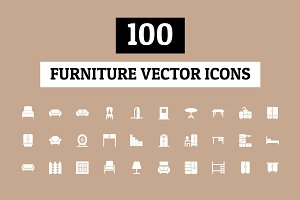 100 Furniture Vector Icons