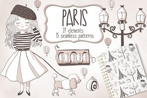 Paris Doodles Pack