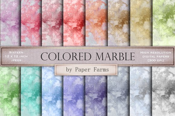 Colored Marble Backgrounds