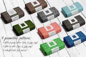 Set of 9 geometric patterns