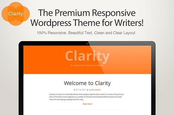 Clarity - A Writers WordPress Theme