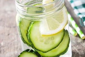 Detox water with cucumber