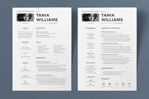 Resume Tania 2 Pages