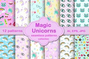 Magic Unicorn  patterns collection