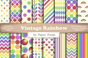 Retro rainbow patterns